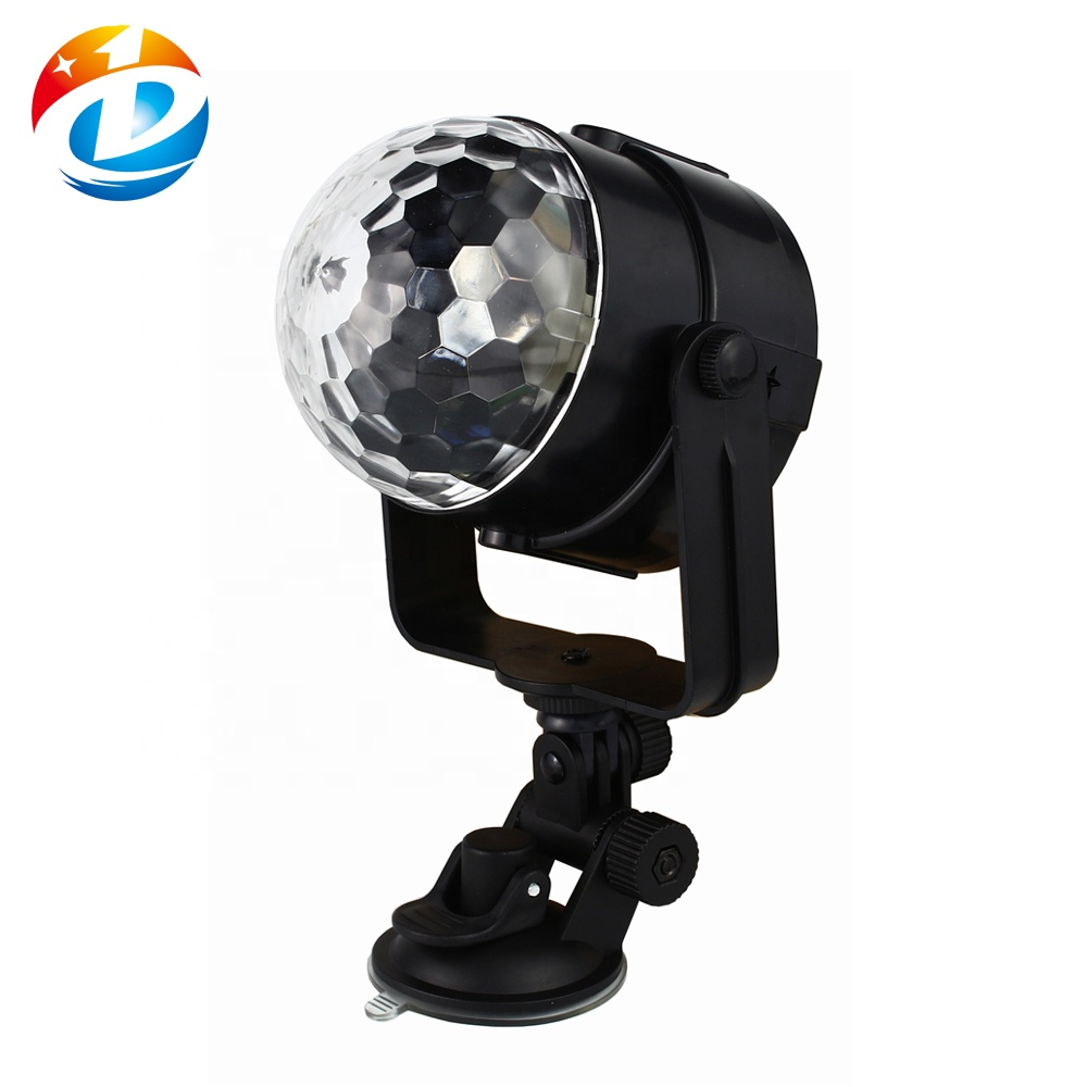 Audio Portatile Mini RGB LED di Cristallo Magic Ball Luce Per La Discoteca Del Dj Della Fase