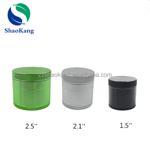 Zhengzhou Shaokang popular smoking accessories metal herb grinder 4 parts 2.5'' tobacco grinder