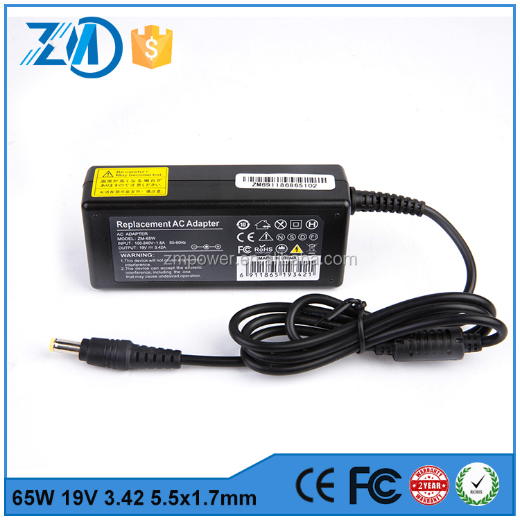 universal power adaptor 19v 3.42a notebook charger