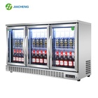 Stainless steel Bar Beer Fridge Beverage Display cooler Glass Door Display Freezer Beverage cabinet refrigerator