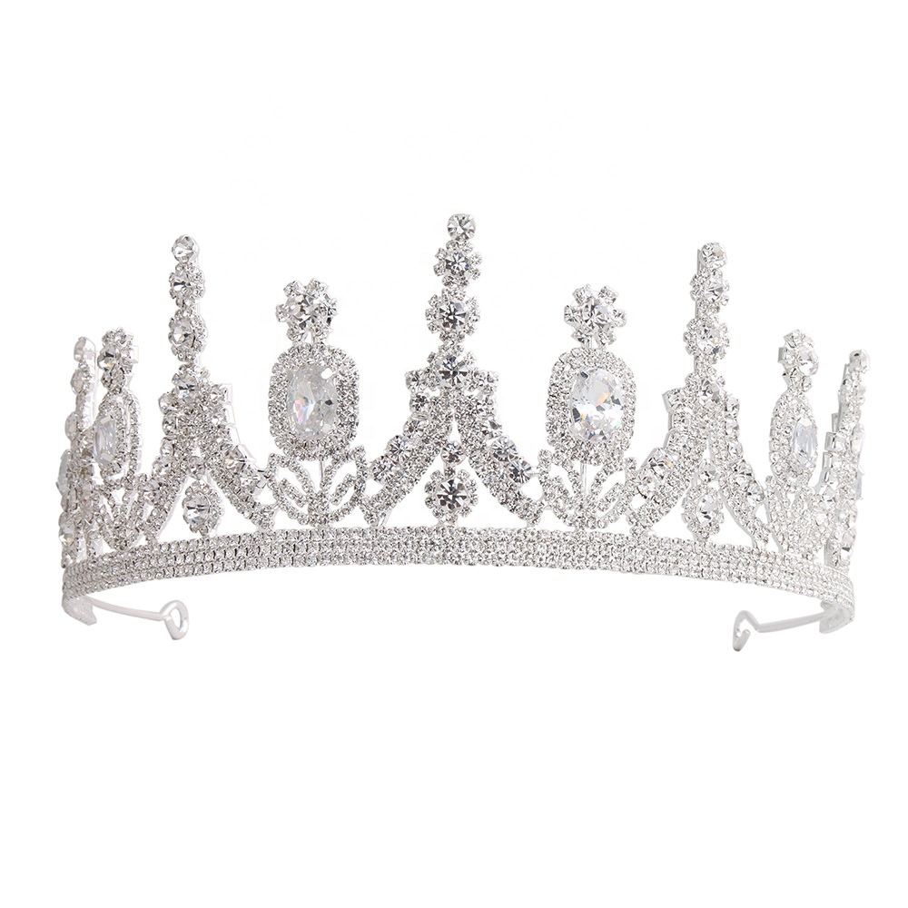 High-end custom Europese bruid zirkoon tiara Diamond Princess bridal crown