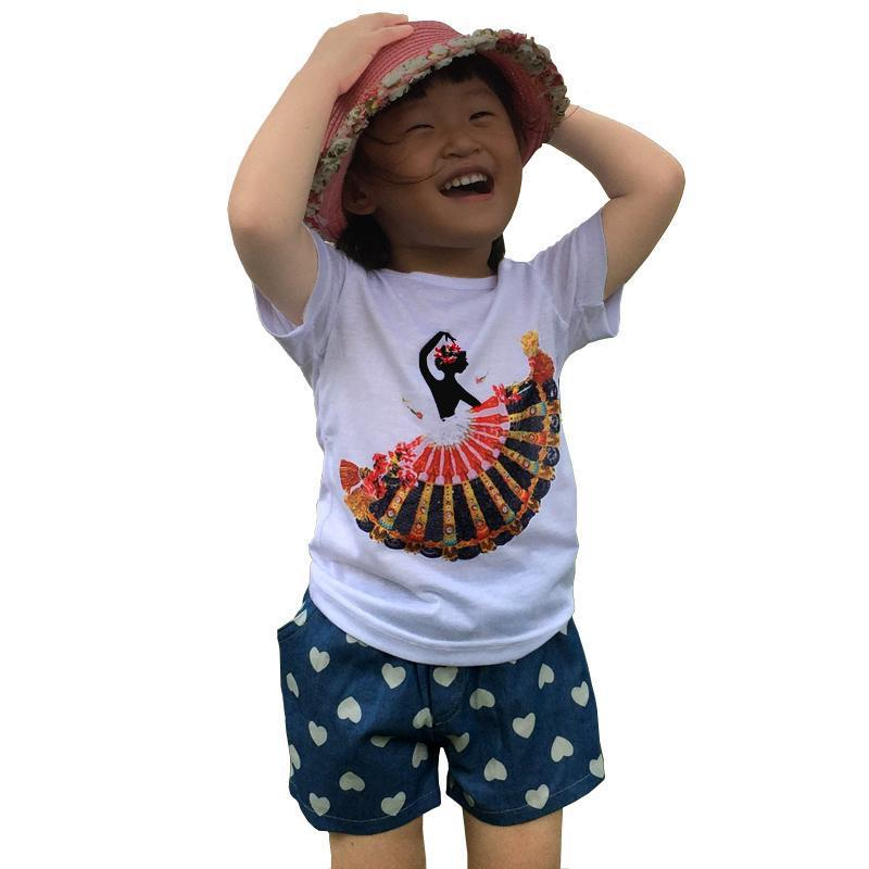 Brand Kids Clothes Summer T Shirt+Shorts 2Pieces Baby Girl Clothing Set Cartoon Children Clothing New Sport Suit Cotton Outfits