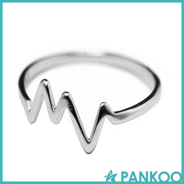 925 Sterling Silver HeartBeat Pulse Ring