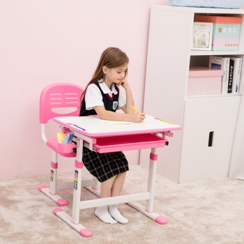 Preschool Furniture Ergonomic Children Study Table Chair Set,Kids ...