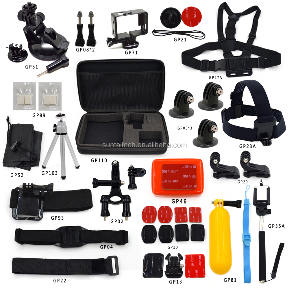 24 in 1 Go pro Accessories kit for accessories set Gopros, Gopros accessories pack
