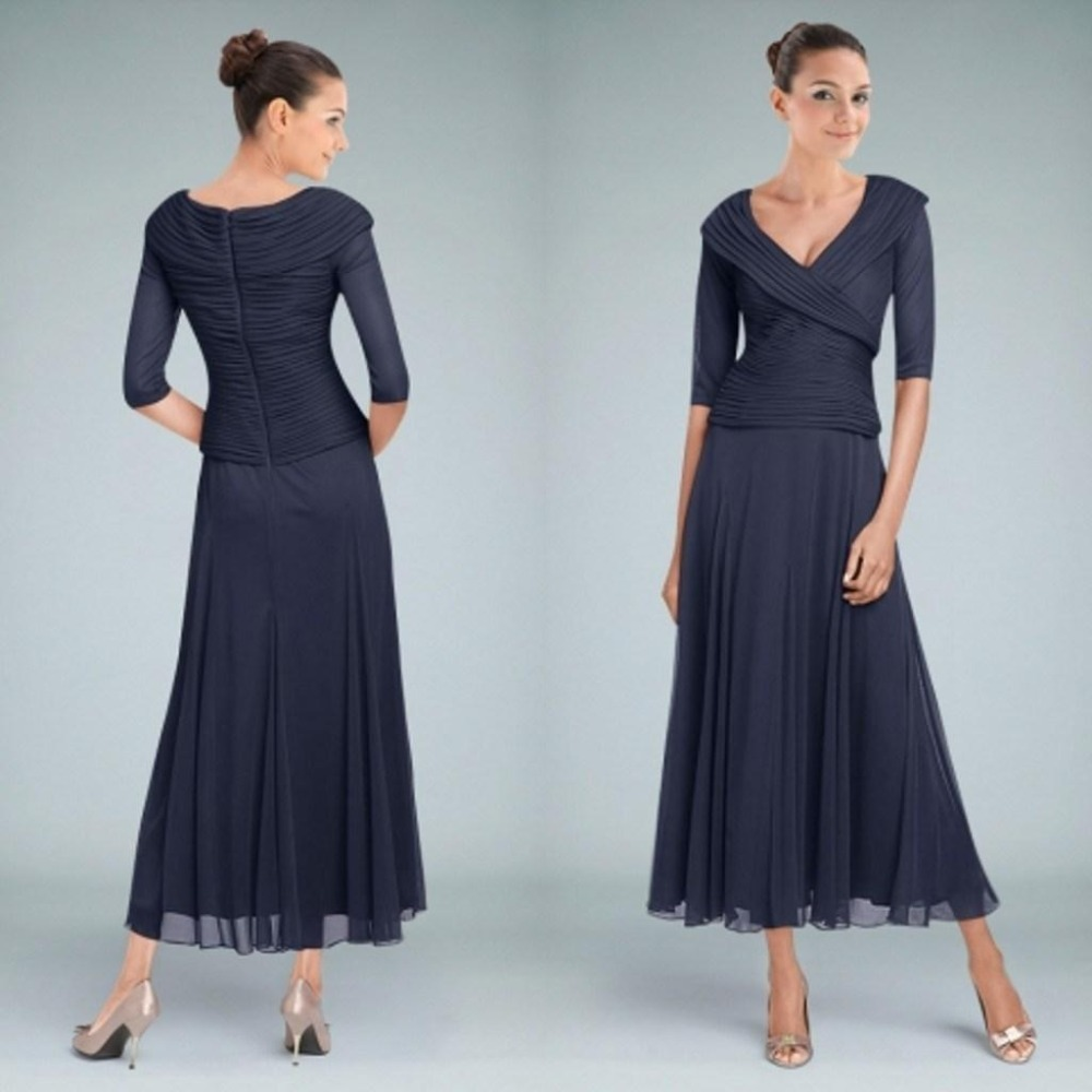 85963128605 Modest Mother Of The Bride Dresses Tea Length - Wedding Dress Buy ...