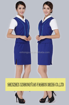 Lady Hotel Uniform Receptionist For Front Desk Staff