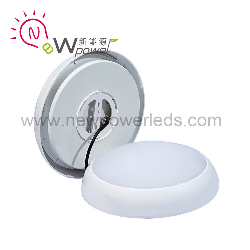 IP65 outdoor round square surface mounted recessed motion sensor led ceiling panel light
