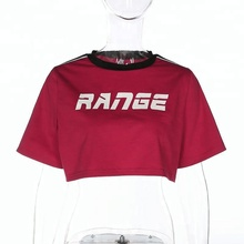 Parola Gamma Crop Carro Armato Sexy Nero Bianco <span class=keywords><strong>Tang</strong></span> Softball Magliette Rosa Rossa Robbia Nighty Tops