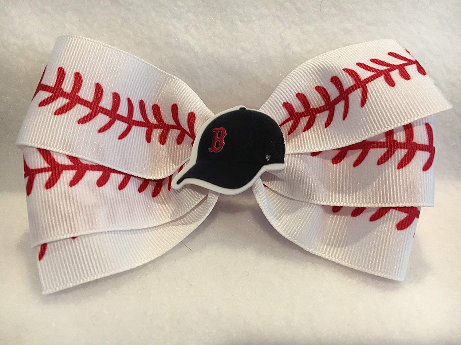 e5a9fb8c40c51 Get Quotations · Boston Red Sox Hair Bow
