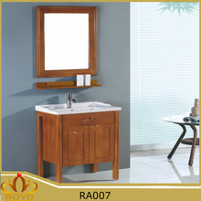Classic American standard antique solid wood floor mounted bathroom cabinet furniture RA007