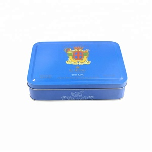 Custom packaging decorative chocolate gift metal tin box