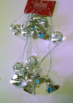 silver bells and beads garland christmas decoration buy christmas