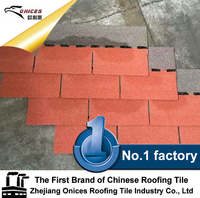 3 Tab Asphalt Building Materials Roof Shingles Different Colors