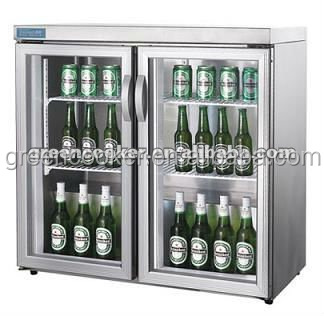 desktop mini fridge low noise hotel mini bar with double glass door - Glass Door Mini Fridge