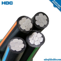 abc cable self-supporting insulated wires SIP 4 SIP 5 GOST15150 Russian standard 0.66/1kv AAC AAAC XLPE