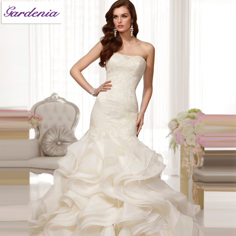 Make Your Own Dress Design: 2014 Design Your Own Wedding Dress Ivory Mermaid Strapless