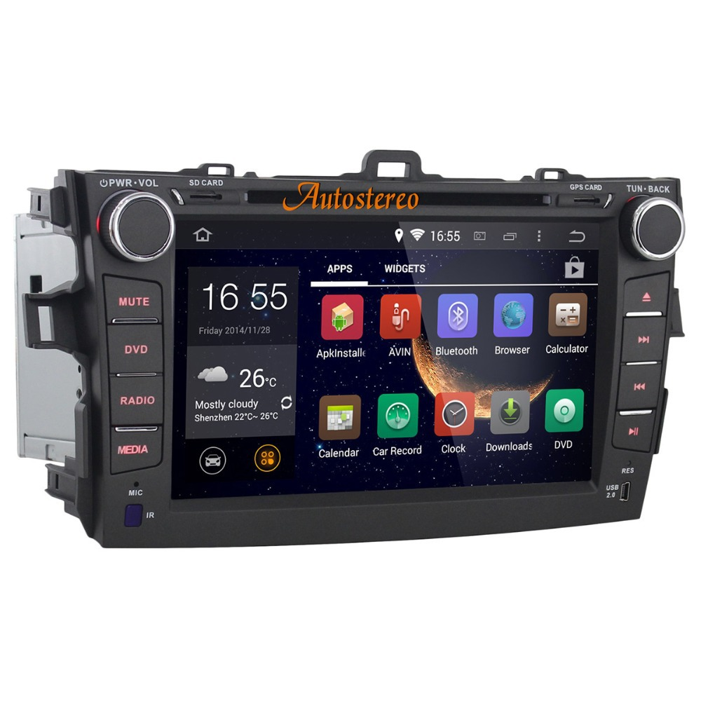 Android 4.4.4 Car DVD Player Car stero mp3 Player Car GPS Navigation for Toyota Corolla 2007-2011