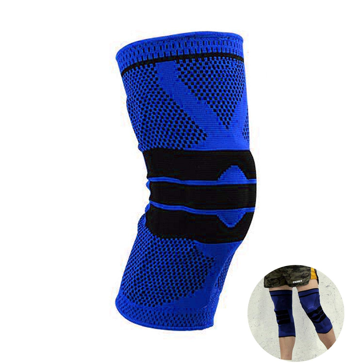 1c15a06897 Get Quotations · Aolvo Knee Compression Sleeve Knee Pad Knee Support Brace  Compression Sleeve Silicone Basketball Volleyball Knee Pads