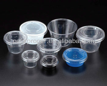 Clear Portion cups with lids