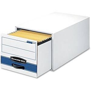 """Bankers Box Stor/Drawer Steel Plus - Letter - TAA Compliant - Internal Dimensions: 12.50"""" Width x 23.25"""" Depth x 10.38"""" Height - Stackable - Heavy Duty - External Dimensions: 14"""" Width x 25.5"""" Depth x 11.5"""" Height - Steel, Plastic - White, Blue - File - 6 / Carton"""