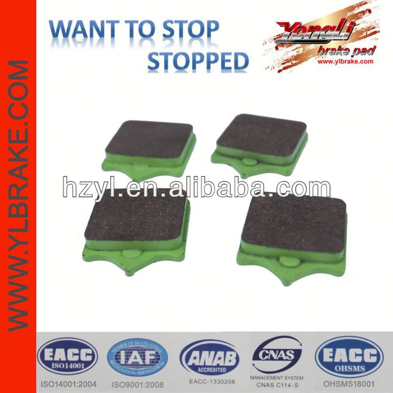 High quality resistant china brake pad for atv