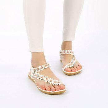 f7e52760877950 2016 Summer Sandals Fashion Girls Flat Sandals Women Bohemia Floral Beach Sandals  Slippers Flip Flops Sweet