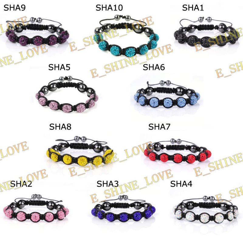 Shamballa Bracelets With Mixed Ball Crystal SHAmix1