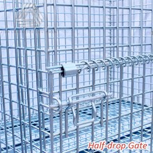 Stackable Galvanized Steel Wire Mesh Cage with Heavy Duty