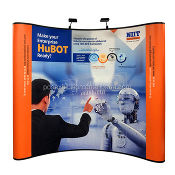 Exhibition Booth Backdrop : 8ft expo wall fabric tradeshow backdrop advertising tension fabric