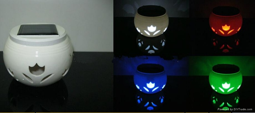 Best Supplier In China Butterfly Led Solar Ceramic Jar Light