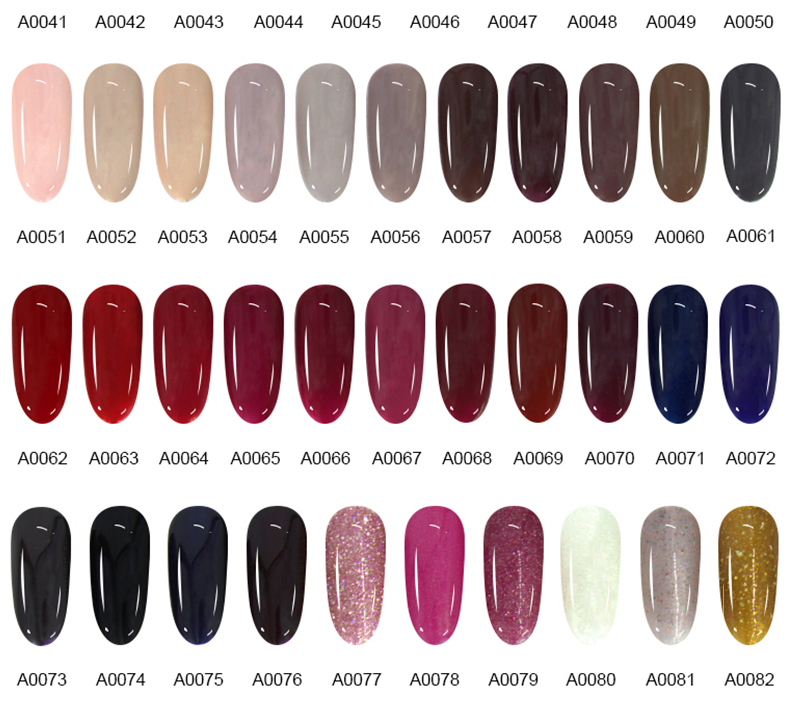 Nail art designs long lasting soak off gel oem nail lacquer one step gel nail varnish many color with MSDS