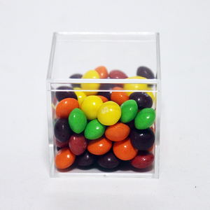Jelly Beans Clear Box Food Grade Exquisite Clear Mini Acrylic Candy Box Safe For Baby