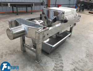 Small Recesses Plate Filter press with SS 304 body and plates of PP