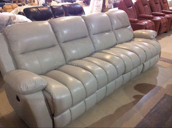 grey leather recliner. 2017Living Room Furniture Grey Leather Recliner Sofa 4 Seater .