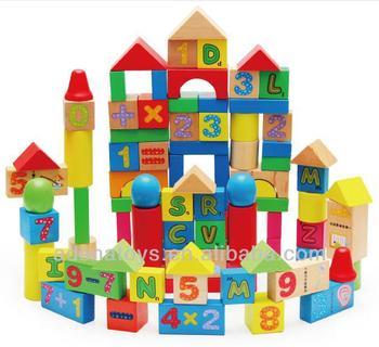 Wooden Kids Educational Diy Toys Building Block Wooden Blocks Toys