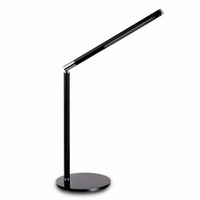 Adjustable Double colour temperature 9W Silver Nail Art LED Table Lamp office table lamp