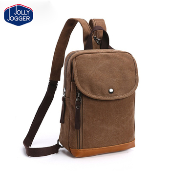 Fashion Man College Student Small Single Side Bags For S Boys Cotton Canvas Messenger Bag