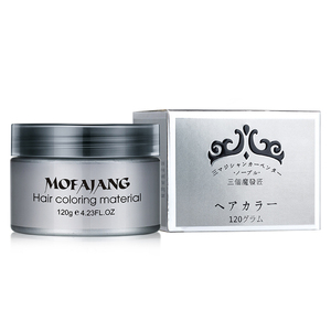 Instant Hair Coloured Pomades Waxes White Purple Gray Silver Ash Wax Hair Color Wax Mud Disposable Modeling Dye Cream Washable