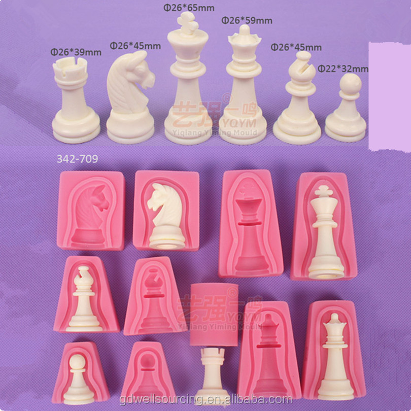 3D printing International chess fondant mold decorating tools