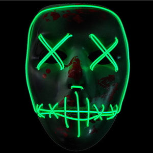 2018 new design custom led flashing halloween mask for party