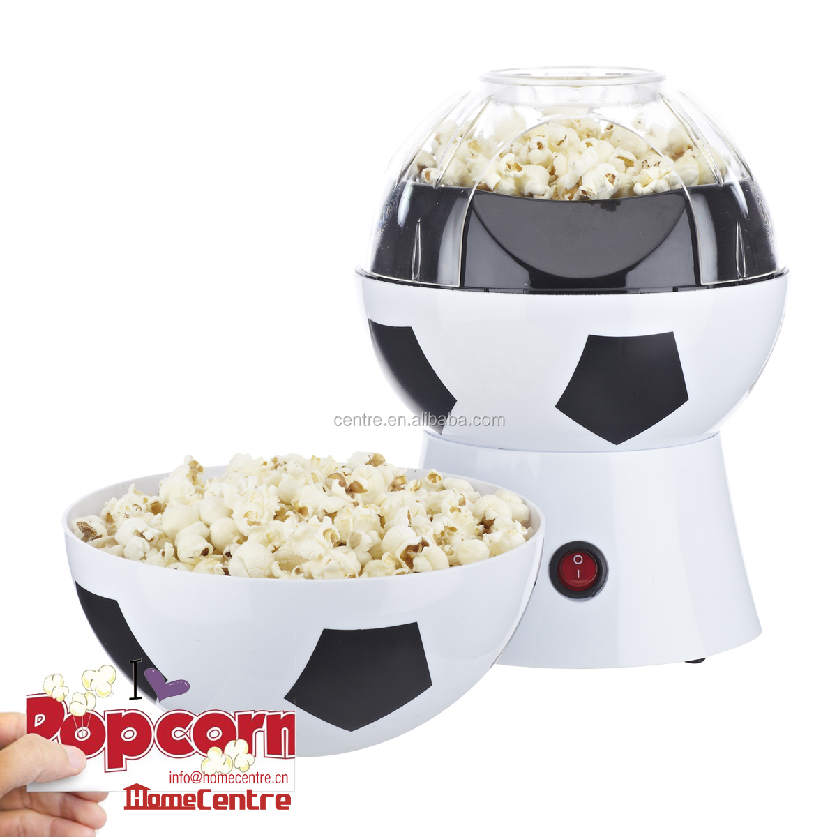 Mini football popcorn maker