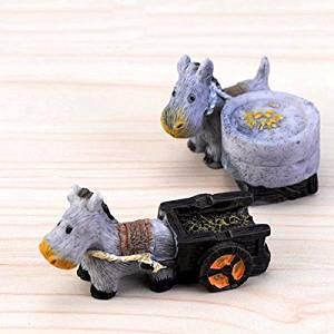 2pcs Mini Resin Hardworking Donkeys Micro Landscape DIY Decorations / 2pcs Mini Resin Hardworking Donkeys Micro Landscape Decor . . Mini resin decorations, suitable for create a micro landscape