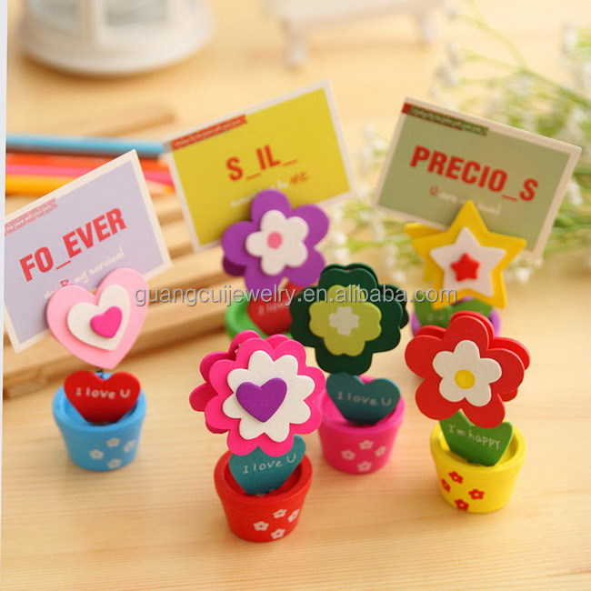 Wooden flower pot decoration items table card holder