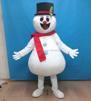 make snowman mascotte adult snowman costume