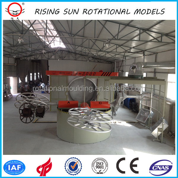 Rising Sun Rotational moulding machine with Insulated box moulds