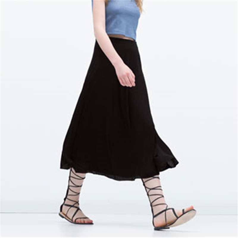 6XL 7XL Plus Size Black Long Maxi Skirts For Women Autumn Spring Bodycon Saia Feminina Casual Women Skirt 2015
