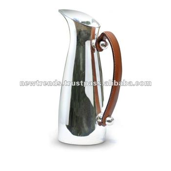 1.5L Brass Water Pitcher or Jug with leather handle