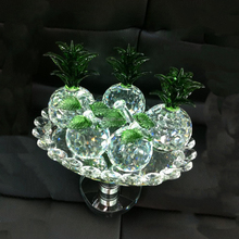 Decorative artificial fruit wholesale crystal fruits model items for home table decorations