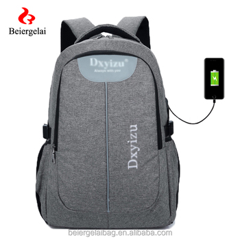 Korean Style Usb Backpack 3 Compartment Laptop
